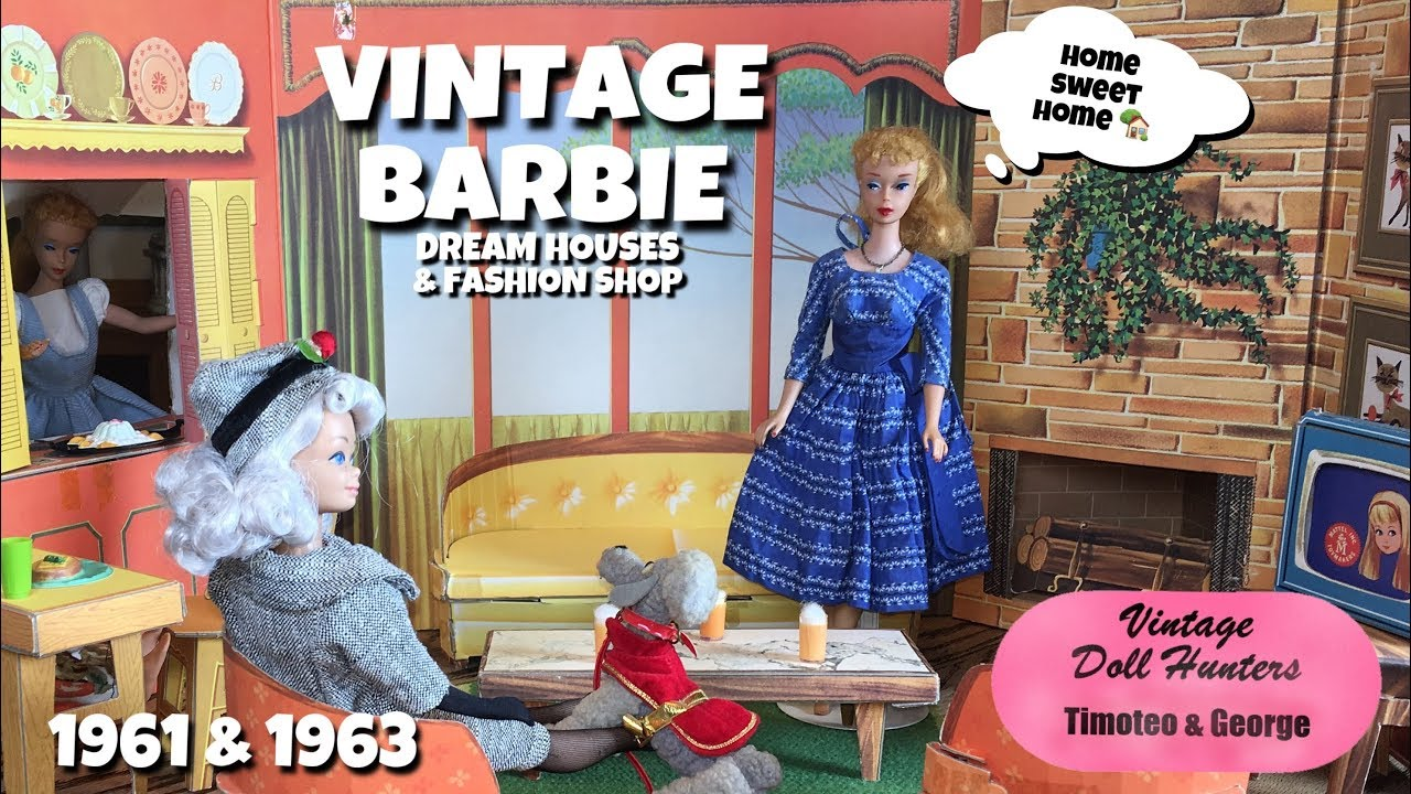 VINTAGE DOLL HUNTERS TIMOTEO & GEORGE BARBIE DREAMHOUSES AND FASHION SHOP  DOLL STRUCTURES