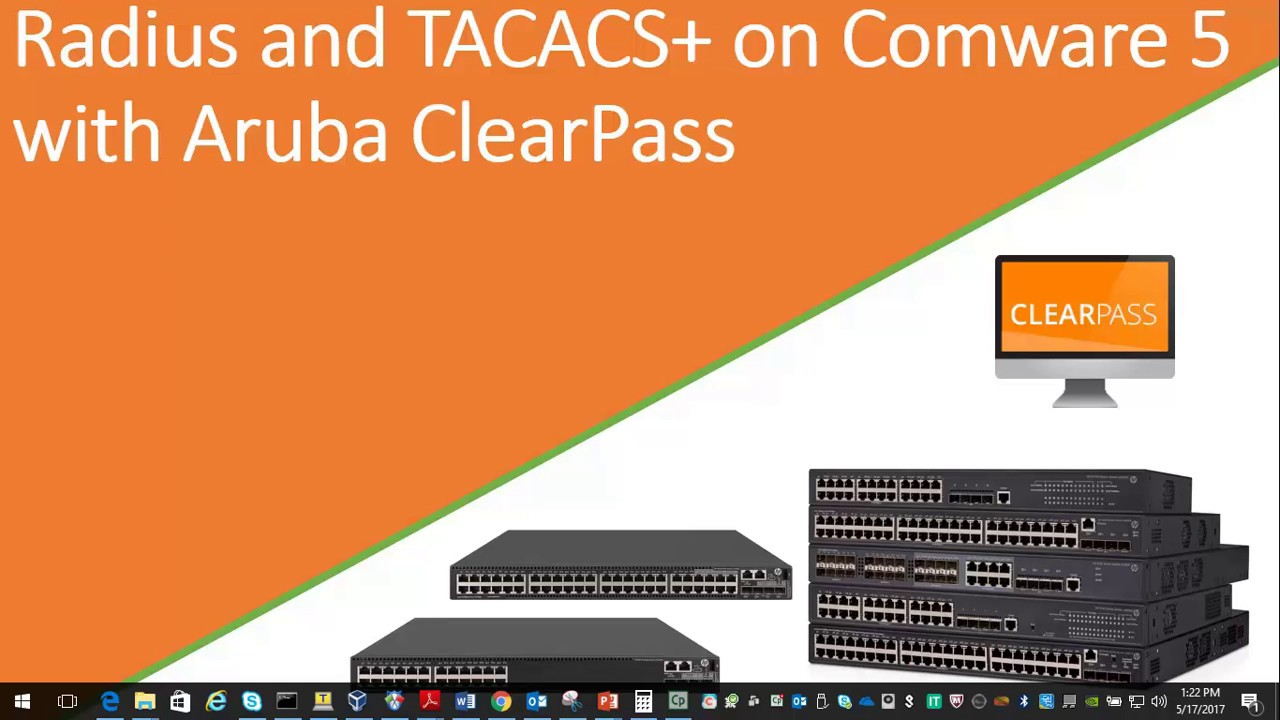 Radius and Tacacs on Comware 5 with Aruba ClearPass