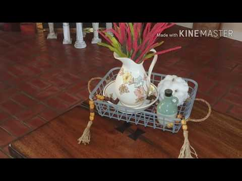 DIY farmhouse baskets using Dollar tree items.  Super cute and affordable.