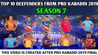 Top 10 Defender From Pro kabaddi 2019 Season-7 | Most Tackle points in 2019 Season-7