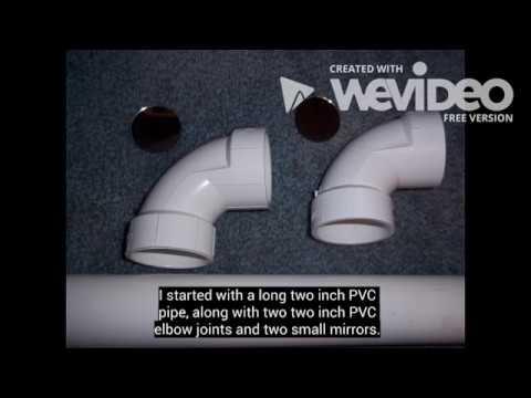 Pvc periscope youtube for Homemade periscope pvc