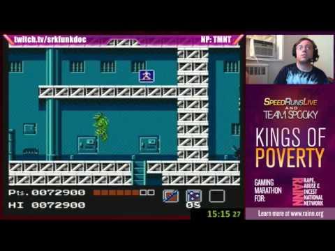 TMNT NES with Josh The Funkdoc, Nerdjosh, Min & Spooky - Kings of Poverty for Rainn Bonus Part 3