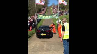 Supercharged 3.2 V6 Alfa Romeo 159 going up the test hill at Brooklands Race Track Run 1
