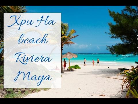 Xpuha beach Riviera Maya. Playa Xpu ha.