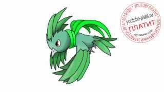 Картинки нарисованных монстров  Как нарисовать крылотого монстра попугая карандашом за 21 секунду