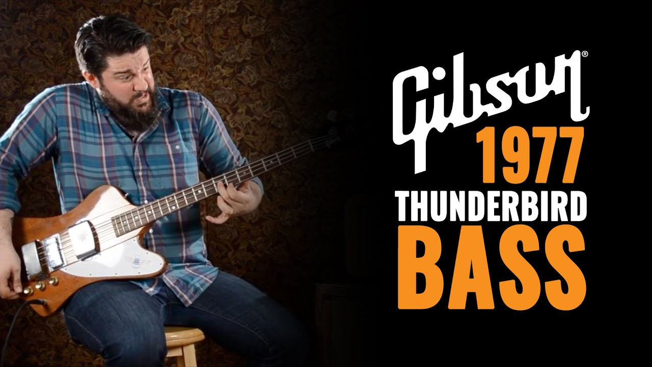 1977 gibson thunderbird bass rare natural finish with loop