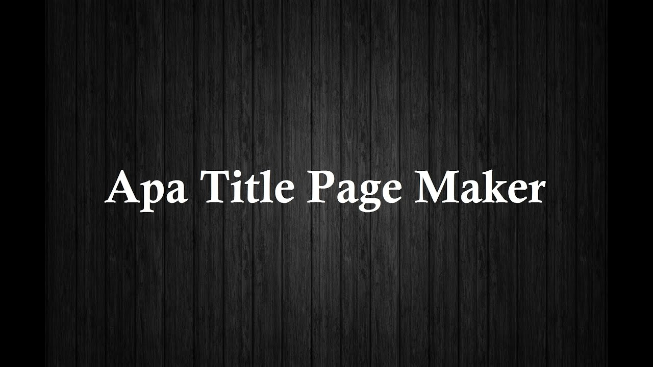 title page maker free