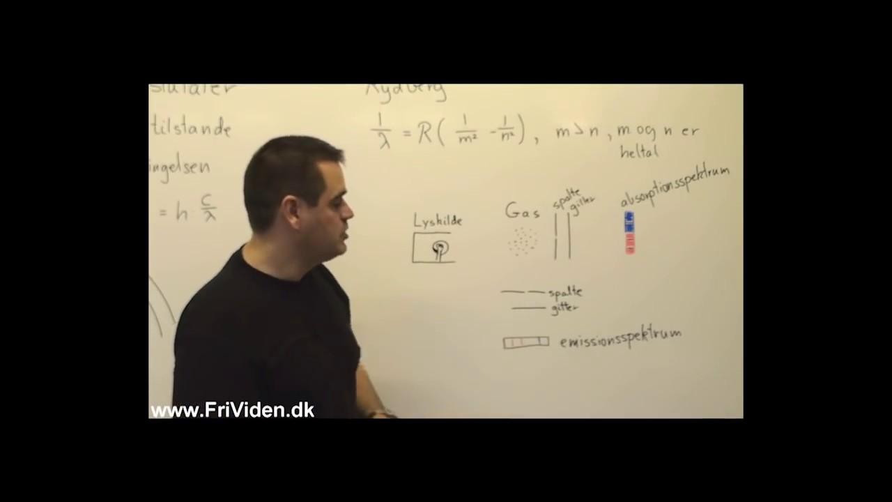Bohr's postulater og rydbergformlen