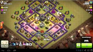 TH9 vs TH9 : loonion and minions for 3 stars in war | clan wars | clash of clans