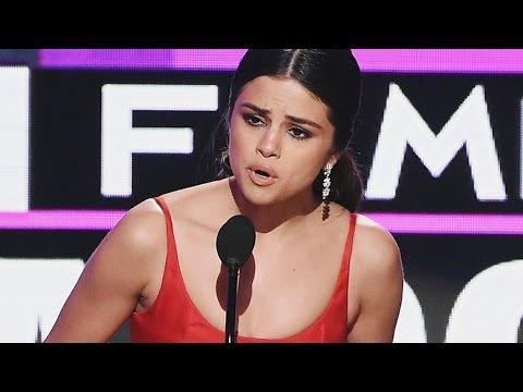 Selena Gomez Tears Up & Gives Moving Post-Rehab Speech At 2016 AMAs
