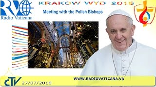 Pope Francis in Poland: Meeting with the Polish bishops