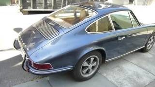 Walkaround Video 1969 Porsche 912 Sunroof Coupe Blue For Sale at Carplanet.com