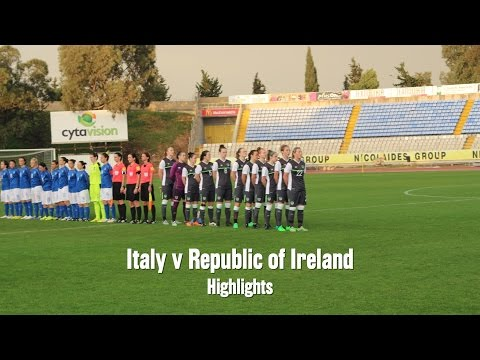 Italy v Republic of Ireland WNT highlights