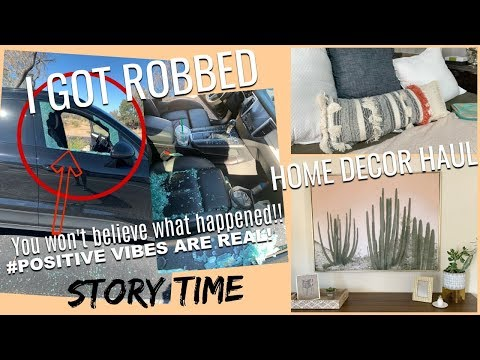 SO I got robbed Oh & a Home Decor Haul Target Homegoods Tj Maxx