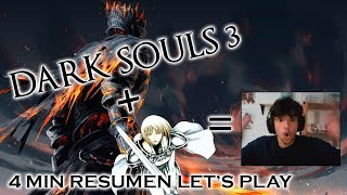 Dark Souls 3 'Anime Ending' - LET'S PLAY IN 4 MIN - Danzai no Hana (Claymore)