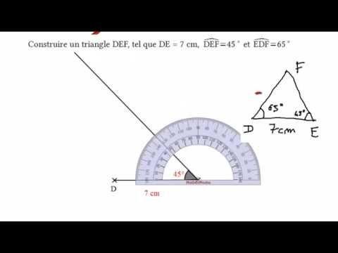 Construire un triangle partir de deux mesures d 39 angle avec la rapporteu - Construire un bureau d angle ...
