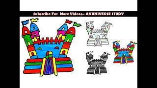 HOW TO DRAW PLAYGROUND FOR KIDS AND COLORING PAGE - ANUNIVERSE STUDY