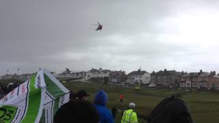 Irish Coastguard Helicopter arrives at the North West 200 16/05/2015