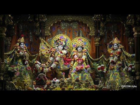 Sri Sri Radha Rasbihari Temple Sringar Arati Darshan 19th April 2018 Live from ISKCON Juhu, Mumbai