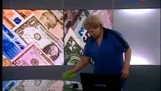 Уборщица попала в прямой эфир студии канала Россия 24 (2011)