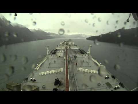 Valdez time lapse aboard a tank ship