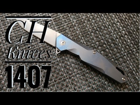 CH 1407 Titanium Flipper  Knife Review