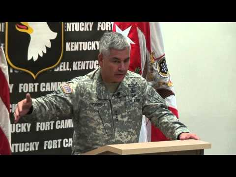 General John F. Campbell visits Fort Campbell