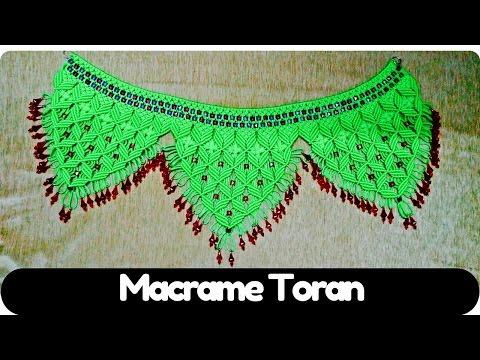 How to make Macrame Tutorial of Macrame Toran (Design- 4) | Macrame Art
