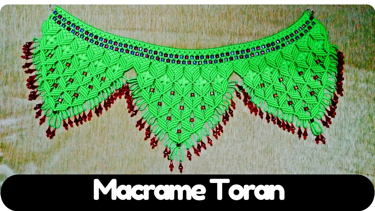 20 design tutorial how to make macrame tutorial of macrame toran design 4 20