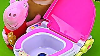 Barbie Pink toilet. Baby Toys