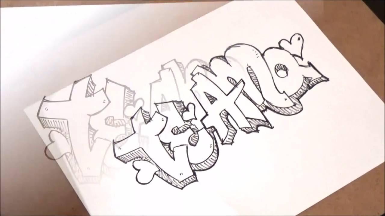 Como Desenhar A Palavra Que Eu Te Amo Youtube