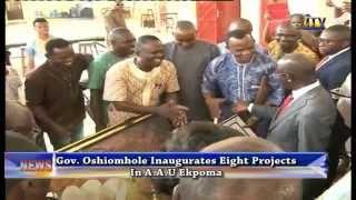 Gov. Oshiomhole Inaugurates Eight Projects In A.A.U Ekpoma