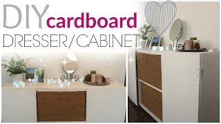 DIY: cardboard cabinet/dresser