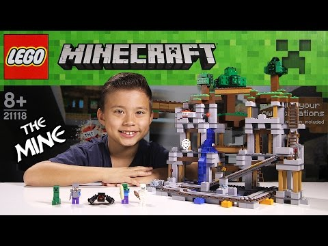 LEGO MINECRAFT - Set 21118 THE MINE - Unboxing, Review, Time-Lapse Build