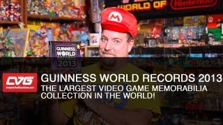 The largest video game memorabilia collection in the world! And other Guinness World Records 2013