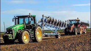 Największa Orka W Polsce!!! 4 Traktory & 28 Skib W Akcji || Jesień W OHZ GARZYN