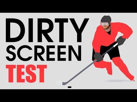 (DSE) Dirty Screen Effect Test --- 60 Fps Hockey Screen Uniformity