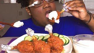 BUFFALO CHICKEN LOLLIPOPS 먹방 MUKBANG + RECIPE 치킨 롤리팝 먹방 레시피와 함께