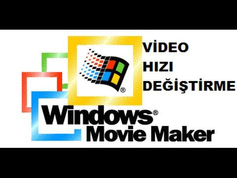 Videonun Hızını Değiştirme (Movie Maker)