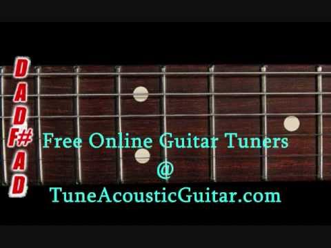 Open D Tuning - Open D Major Online Guitar Tuner