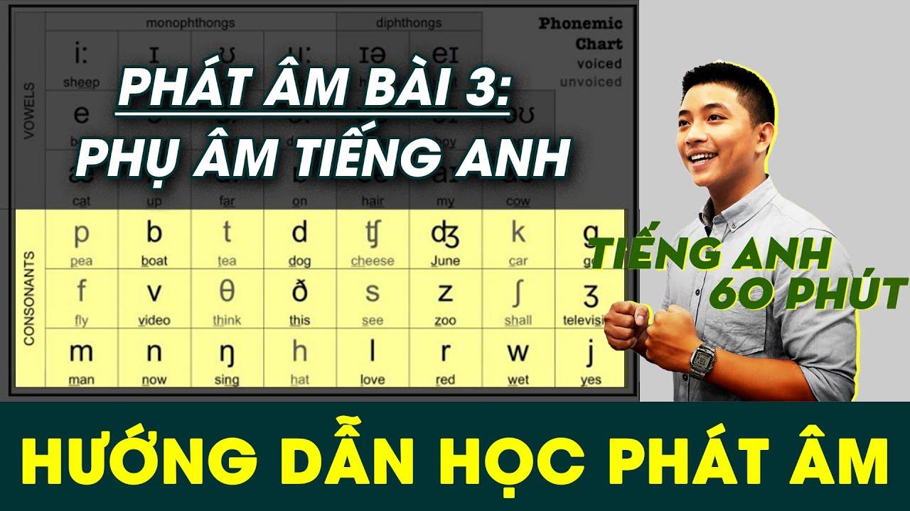 Cùng Học Phát Âm Tiếng Anh - Bảng Phiên Âm Quốc Tế IPA [BÀI 3: PHỤ ÂM)