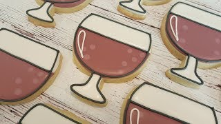 Red Wine Glass Sugar Cookies on Kookievision by Sweethart Baking Experiment