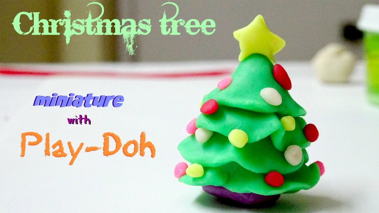 Play doh Christmas tree miniature | how to make miniature Christmas ...