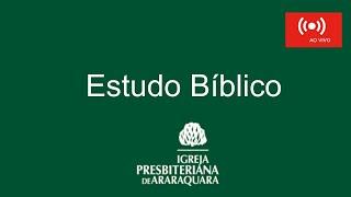 Estudo Bíblico - Habacuque 1:12 - 2:1 - Rev. Thiago Santos