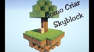Como criar mapa Skyblock