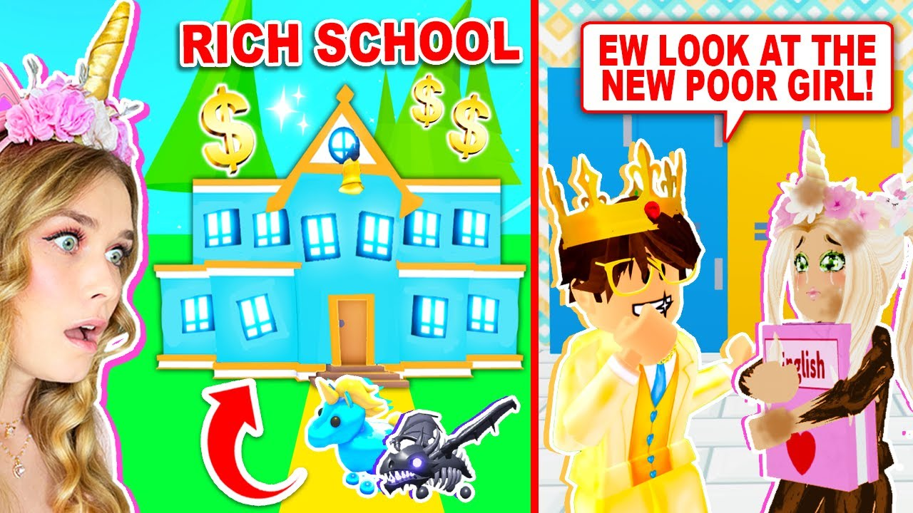 NEW RICH KIDS ONLY School in Adopt Me! (Roblox)