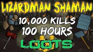 LOOT From 10,000 Lizardman Shaman Boss's! Dragon Warhammer? (OSRS)