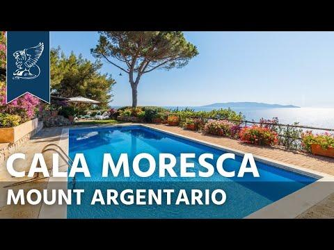 Charming villa overlooking Cala Moresca's sea   Tuscany, Italy - Ref. 3207