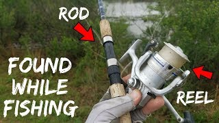 connectYoutube - Fishing TREASURE!!! Found Rod, Reel, Multi-Tool in Pond (Crazy Find!)
