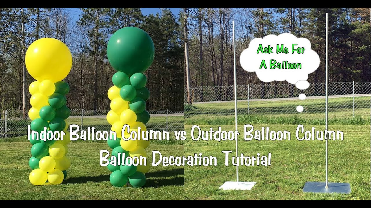 Indoor Balloon Column vs Outdoor Balloon Column